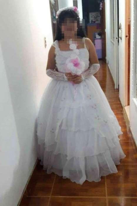 vestido para primera comunion talla 14