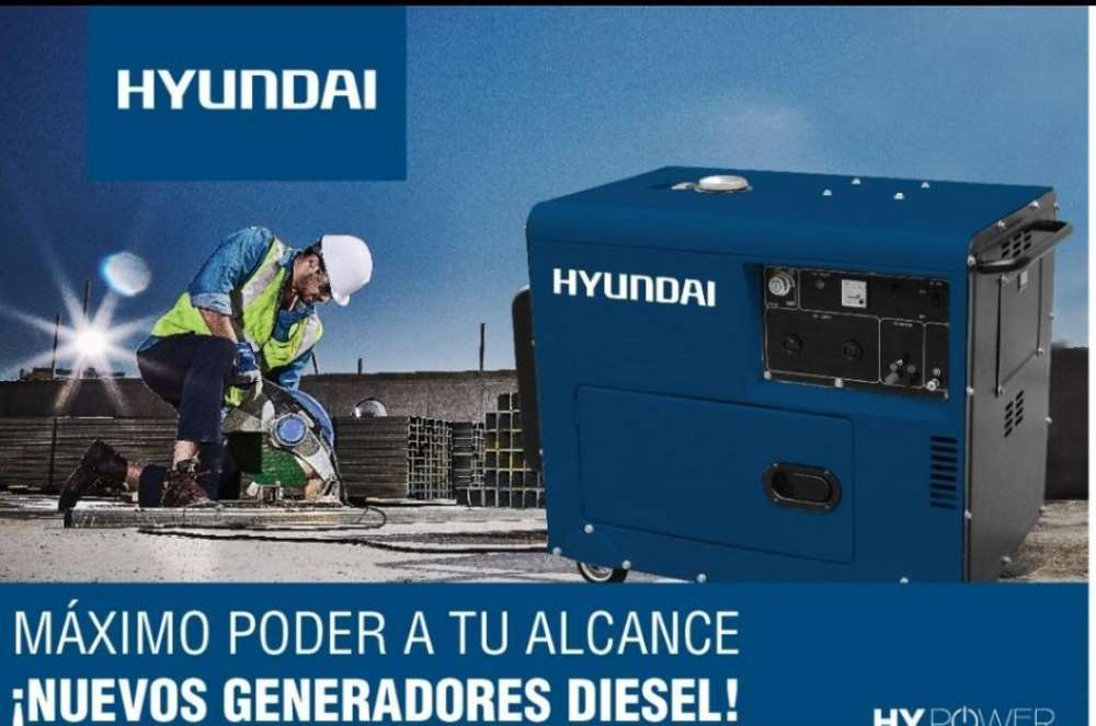 Generador Hyundai Monofasico y Trifasico a Diesel
