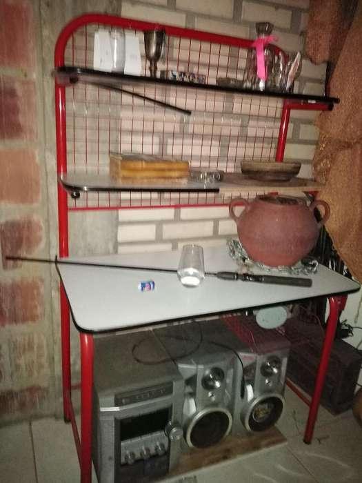 Mueble de Estudio Y Mesa Aux