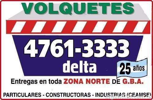 volquetes alquiler zona norte llame al 4761-3333