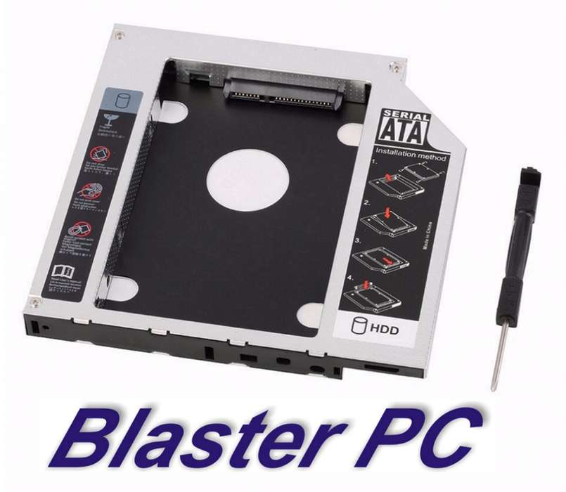 Caddy Para Notebook 2do Disco Ssd 9.5mm 12.7mm Zona Alto Rosario BLASTER PC