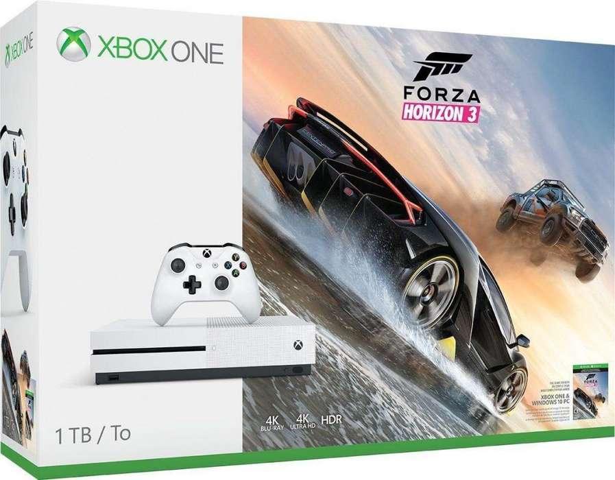 Xbox One S 1tb Juego Fisico Forza Horizon 3 Envio Gratis