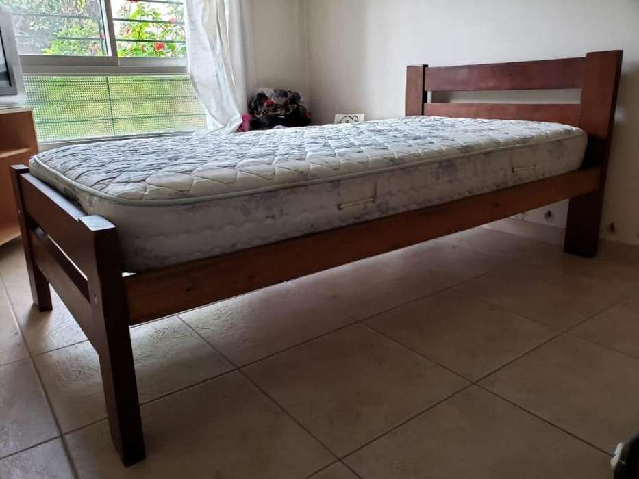 CAMA ALGARROBO PLAZA Y MEDIA