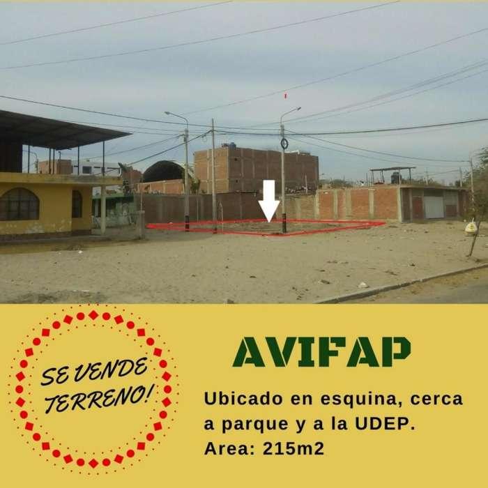 VENDO TERRENO EN ESQUINA URB. JARDINES DE AVIFAP PIURA