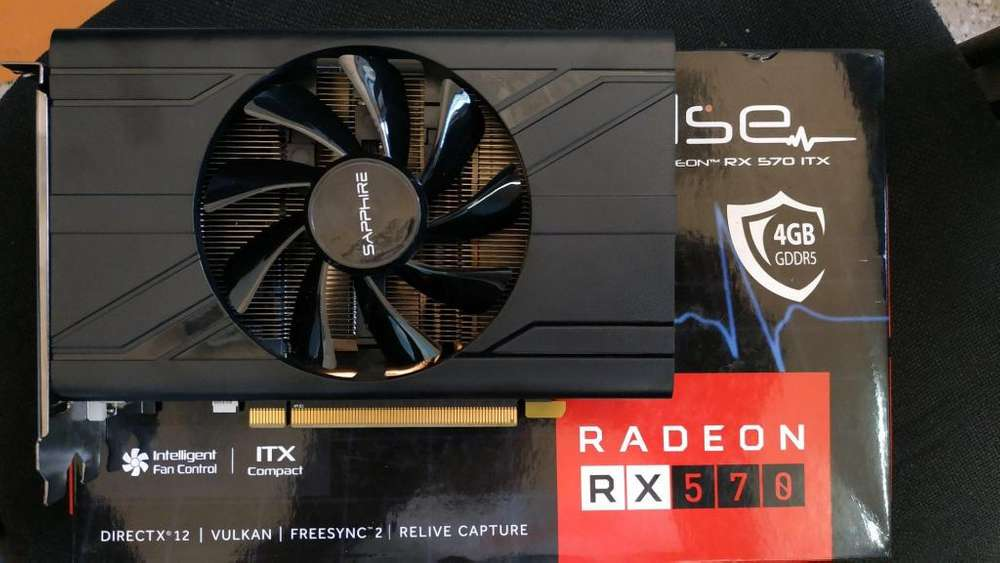 VIDEO SAPPHIRE RX 570 4GB MINI ITX PULSE EN CAJITA CON ACCESORIOS