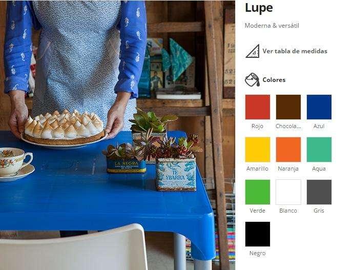 Mesa Plastica LUPE Colores a elección!!