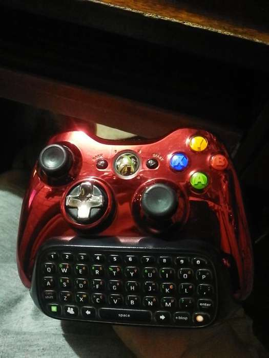 Mando Xbox 360 Rojo Chrome