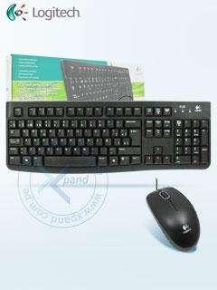 Kit Teclado y Mouse Logitech MK120, USB, Negro.