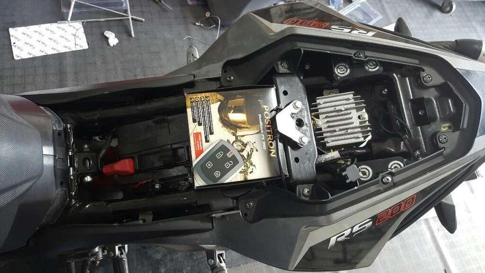 Alarma Positron Foco Led Candado Moto