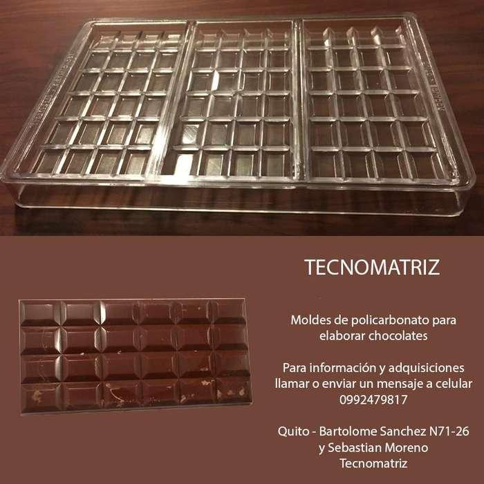MOLDES para TABLETAS de chocolate DE 50 gr y 100 gr