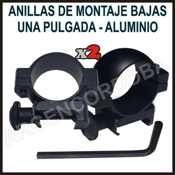 ANILLAS DE MONTAJE BAJAS UNA PULGADA ALUMINIO