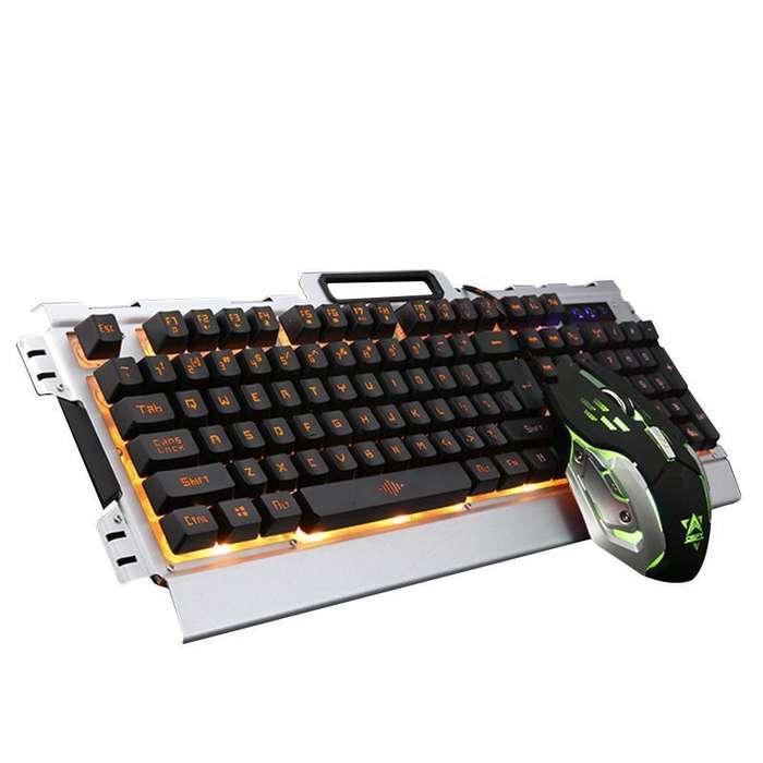 Combo Teclado y Mouse Gaming Aluminio Ref. CTM-K33