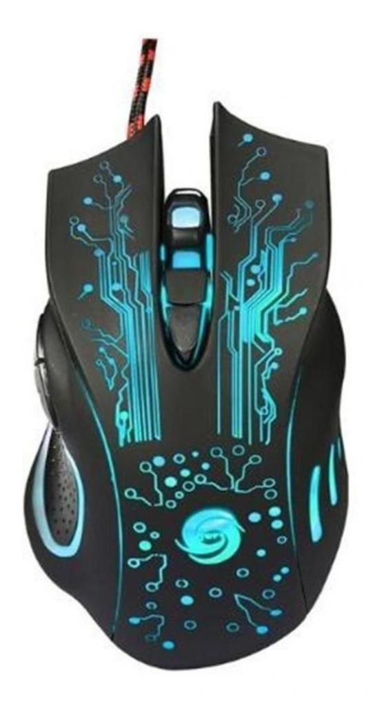 Mouse Gamer Con Cable Usb Óptico 6 Botones 3200 Dpi Scroll