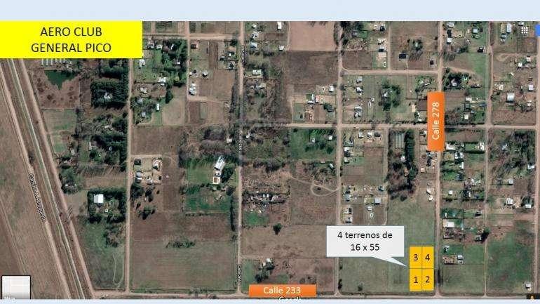 En venta: calle 266 esq 278 4 terrenos de 16 x 55 Excelente zona en crecimiento.