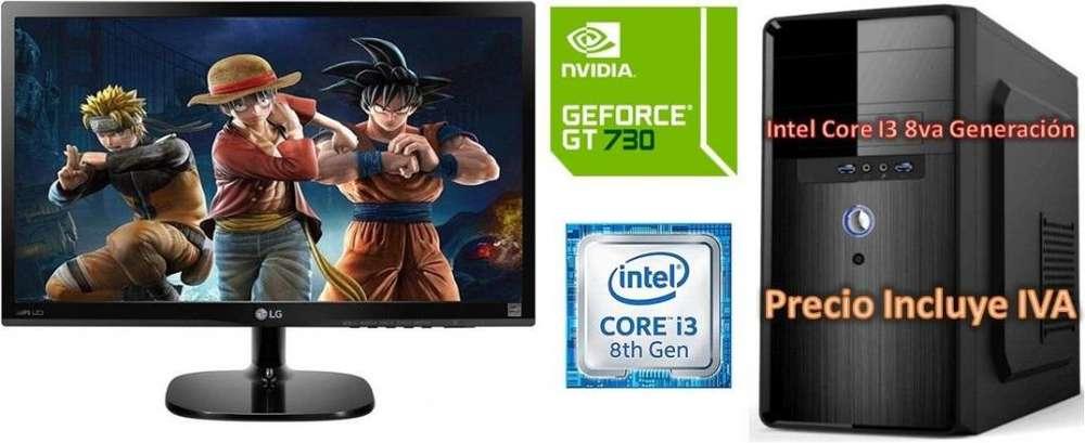 Computadora Intel Core I3 8va 1tb 4gb Led 20 GT730 4GB Cpu I5 I7 PRECIO INCLUYE IVA ENTREGA A DOMICILIO