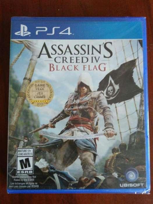 Black Flag Assassins Creed Iv 4 juego Ps4 Nuevo Y Sellado Español