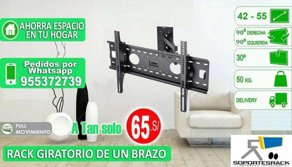 RACK GIRATORIO DE UN BRAZO PARA TVS DE 42 A 55 PULGADAS