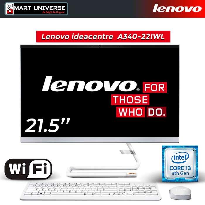 Computador AIO Lenovo A340 Intel Core i3 8va Generacion 22 Pulg 4Gb Ram 1tb