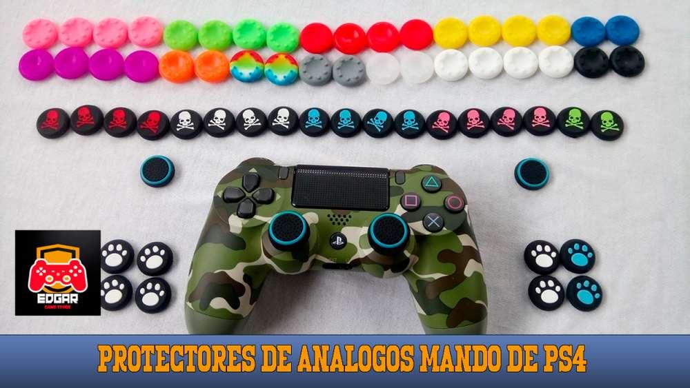 Stickers y protectores de analogos para mando de PS4