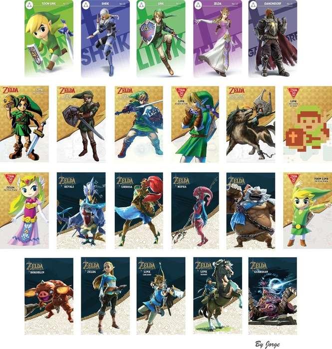 Tarjetas Amiibos Pack 22 Zelda Botw