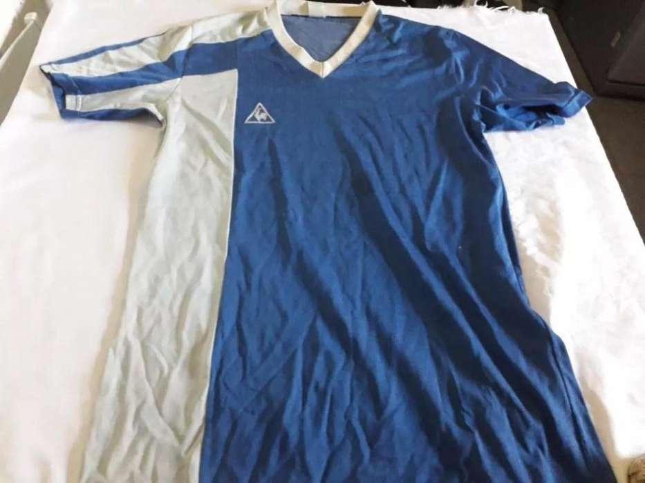 Camiseta vieja de los años 80 le coq color azul