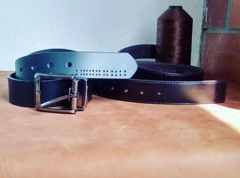 Cinturones para caballero en cuero genuino.