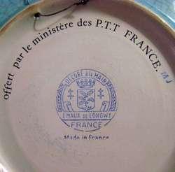 Gran Plato Emaux De Longwy Cerámica Francesa Con Calesa / Maxim Nord