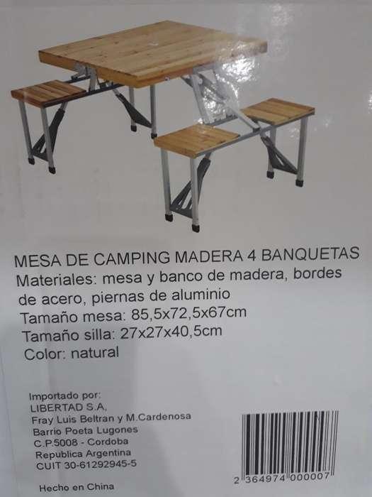 Expetaculares <strong>mesas</strong> para Camping