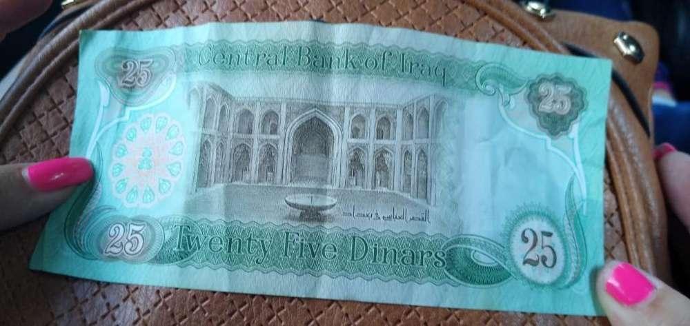 Vendo Billetes Antiguos de Irak de 25 linares ligeramente usados 3175618657