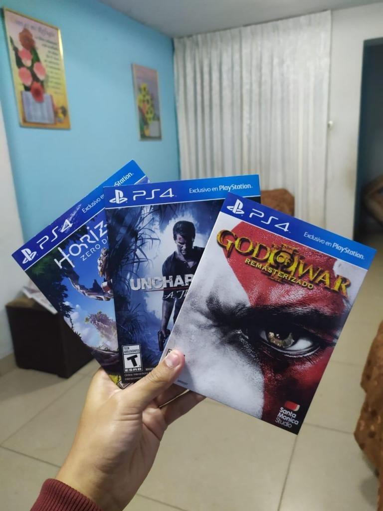 Pack God of War 3, Uncharted 4 y Horizon Zero Dawn para PS4