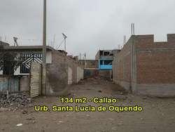 VENDO TERRENO DE 134 M2 DOBLE FRONTIS EN EL CALLAO.