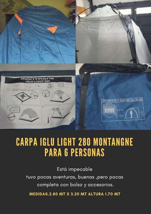 CARPA IGLU LIGHT 280 MONTAGNE PARA 6 PERSONAS