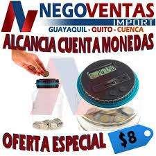 ALCANCÍA DIGITAL CONTADOR DE MONEDAS