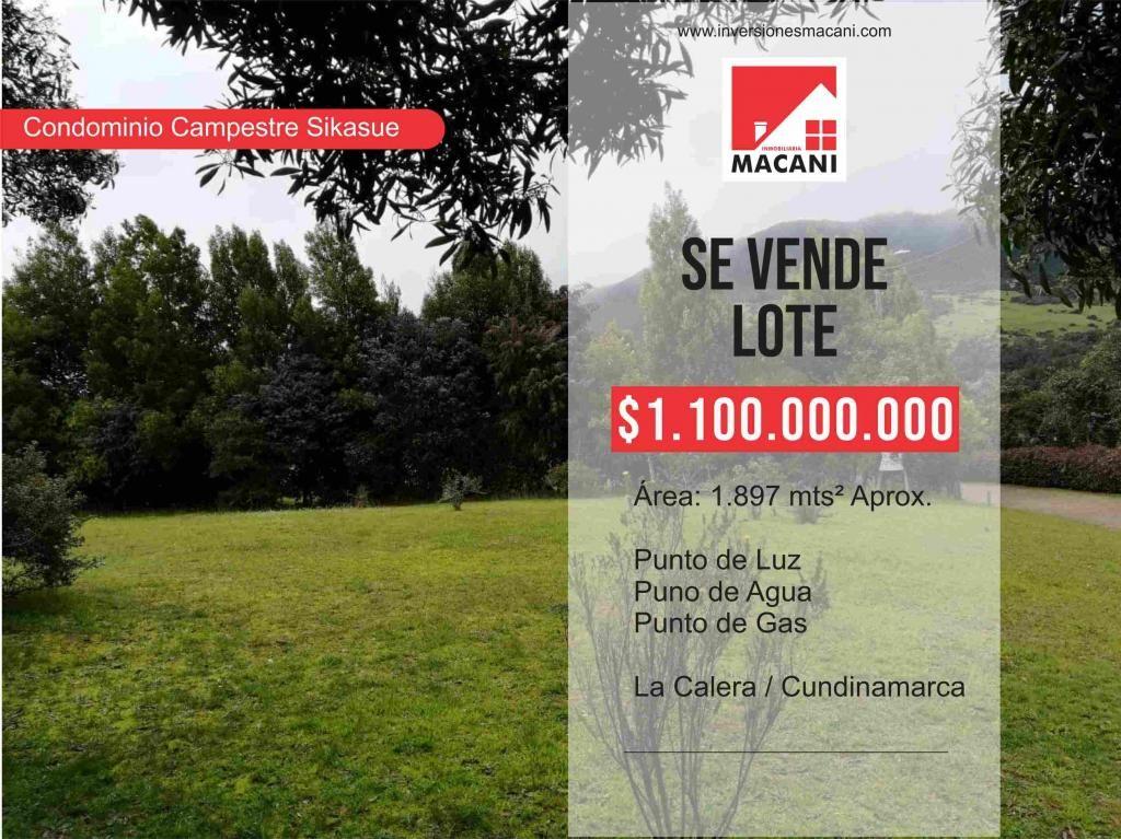 Se Vende Lote Condominio Campestre Sikasue - La Calera / Cundinamarca