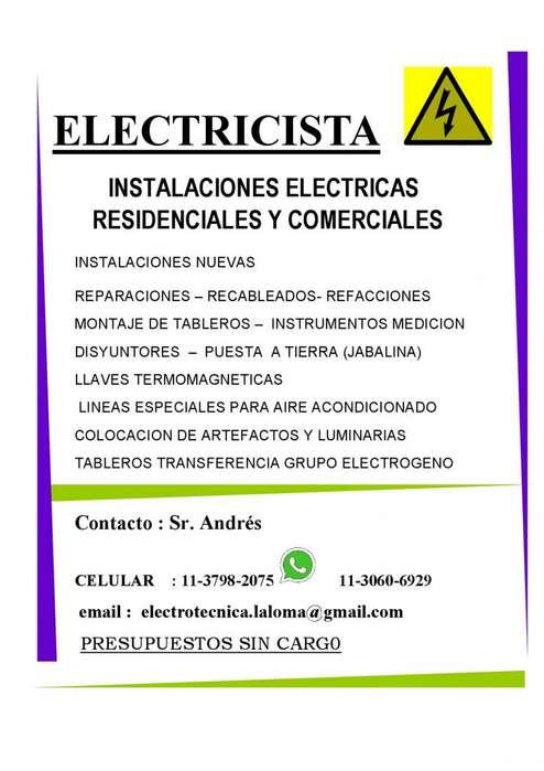 Electricista Zona Norte, Pilar,Delviso,M.Alberti Tortuguitas