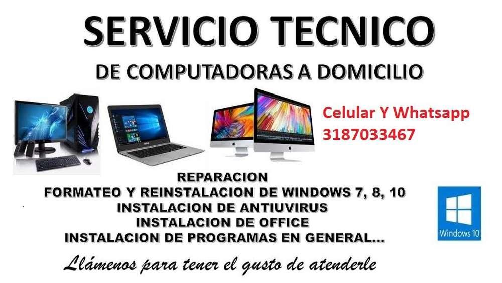REPARACION COMPUTADORES SERVICIO TECNICO MANTENIMIENTO