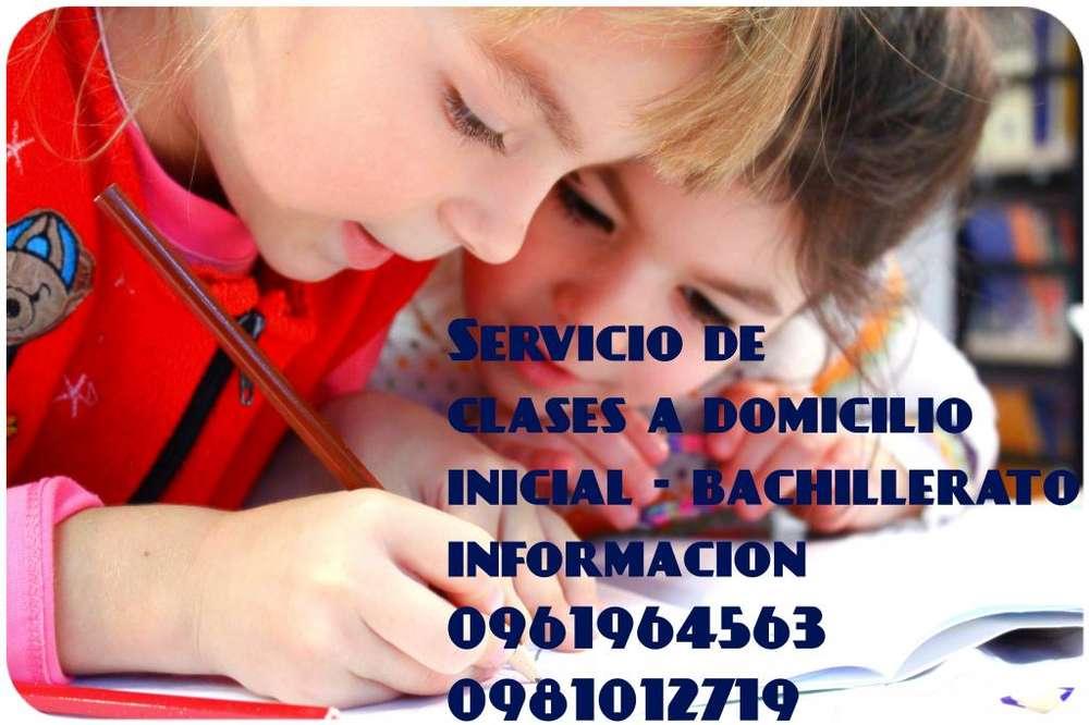 tutorias a la puerta de su casa , clases , controles de tareas , examenes y nivelaciones