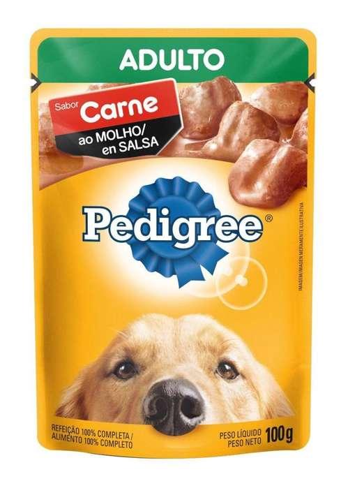 Pedigree Adulto Carne en Salsa - 100gr/6 unidades