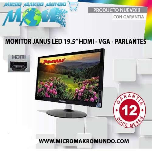 Monitor Led Janus De 19.5 Pulgadas Hdmivga Parlantes