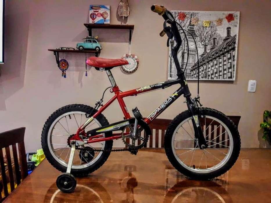 Bicicleta Bmx Topmega Rodado 16 Rueditas