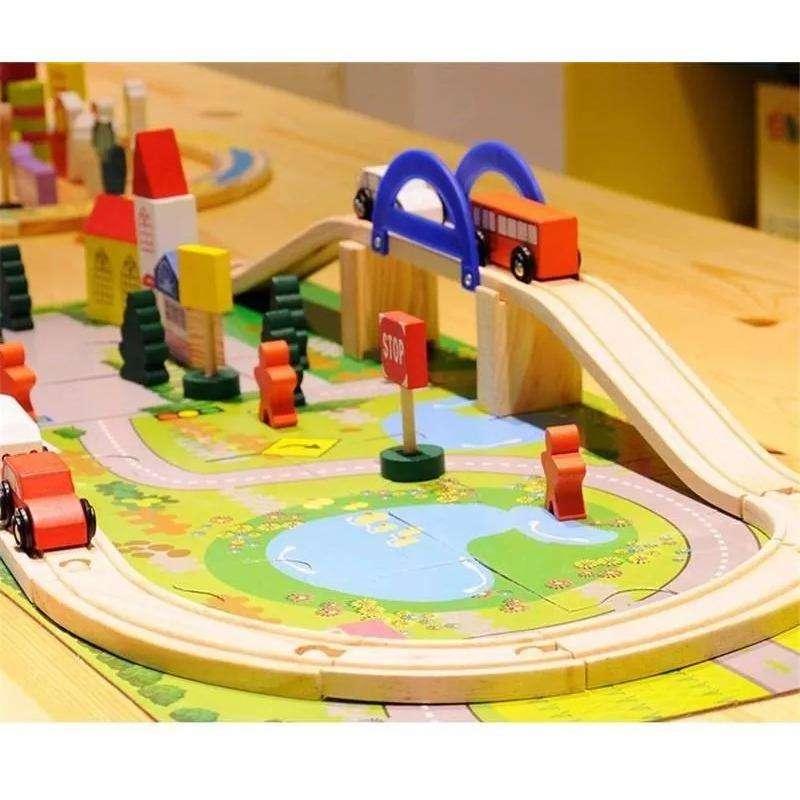 Autopista didactica de madera excelente calidad!!!!!!!