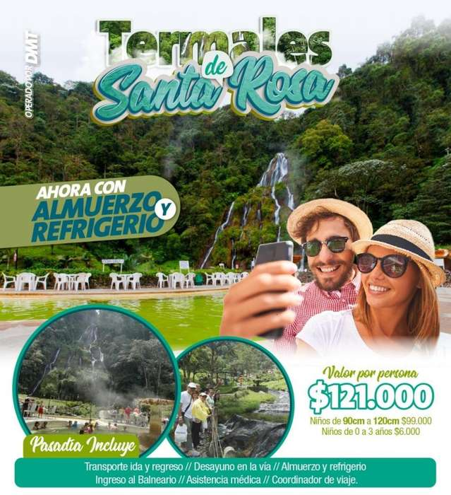 Térmales Balneario en Sta Rosa de Cabal Domingo 30 de junio -2019 121.000 tel 3152251840