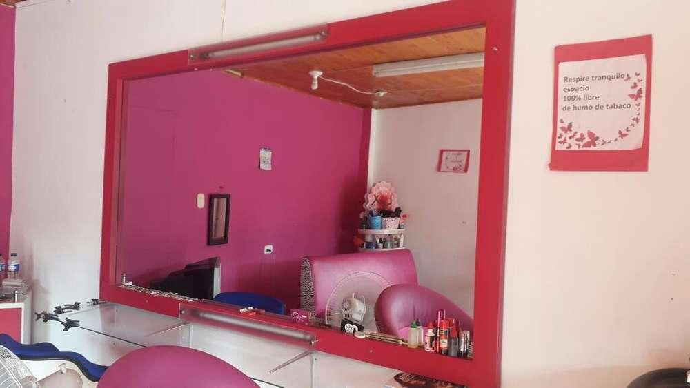Espejo con Lamaparas para Peluqueria