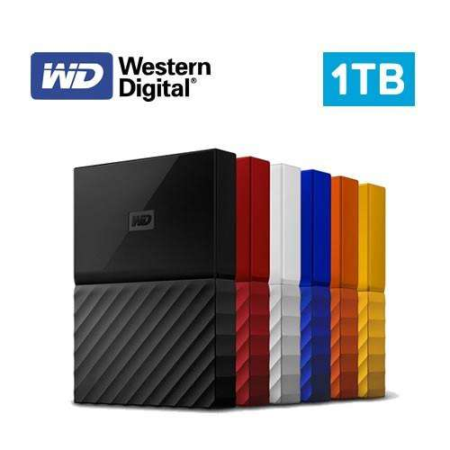 DISCO DURO EXTERNO 1TB WESTERN DIGITAL MY PASSPORT WD USB 3.0