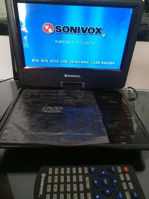 Vendo Dvd con Tv. Portatil Marca Sonivox
