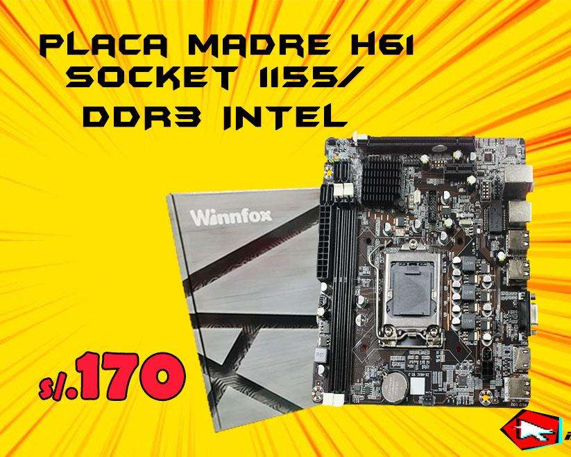 Oferta Placa H61 Socket 1155 Para Core I3 I5 I7 Nuevo X mayor y menor