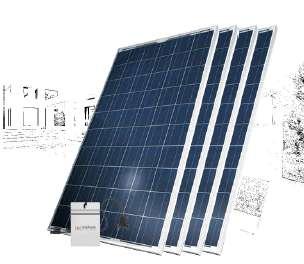 KIT GENERACION ENERGÍA SOLAR 1000Wp PC1000-M120 / PC1000-M240