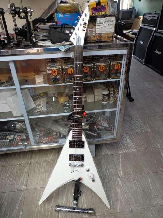 Guitarra Electrica Esp Ltd V50 Sw De Puntas Blanca