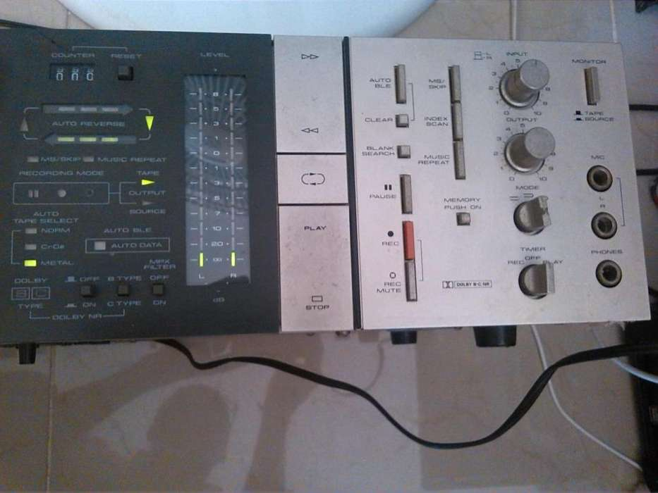 Stereo cassette tape deck pioneer CT8R