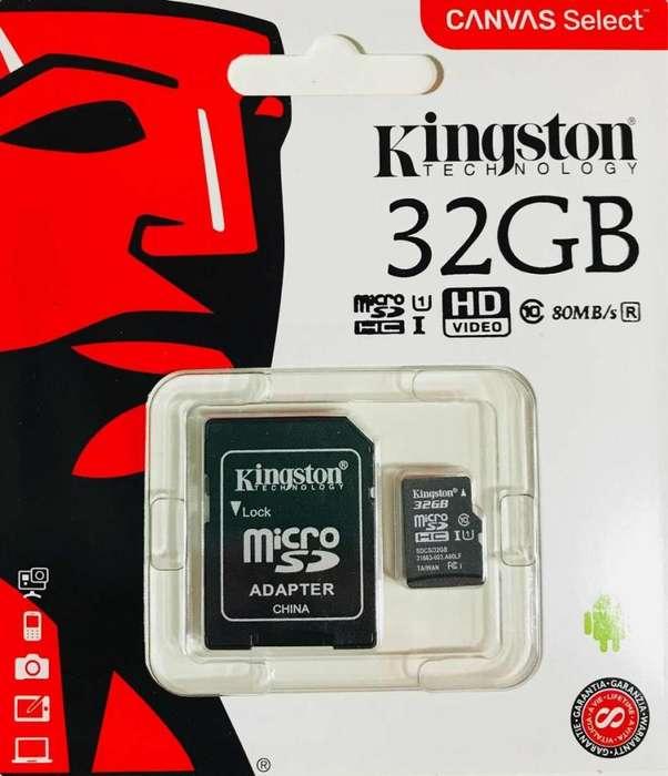 micro sd 32gb Clase 10 nuevos, servicio de envio gratuito